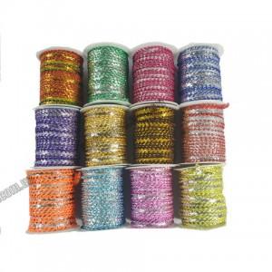 Мотузка декоративна  4,5м (Набор 12шт. асорти) (Цена за 1шт)