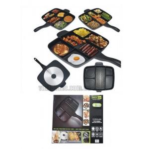 Сковородка гриль MAGIK PAN 5 отделов 32*38см. Диам 24см. керам покрыт.
