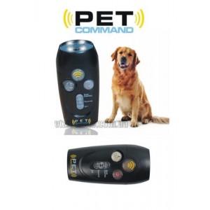 Отпугиватель от собак PET COMAND 20м. 9V Крона 12*5см (фонарь, свисток, отпугиватель) цв.чёрный
