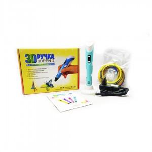 Ручка 3D PEN-2 с lcd-дисплеем 18*2.5см АВС и PLA пластик вес 65грм. цв. Синий