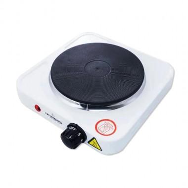 Электроплита однокомфорочная CROWNBERG СВ-3742 215x215x60мм. 1000Вт дисков. цв. белый