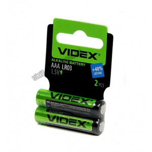 Батарейка LR3 Videx Alkalain 1*4 (60) Бл.
