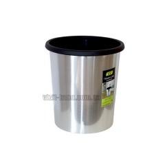 Кошик для сміття. З кільцем для кріплення пакета. Пластикова, h = 27см, d = 25см, 9L