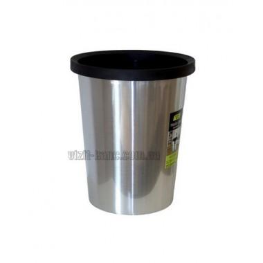 Кошик для сміття. З кільцем для кріплення пакета. Пластикова, h = 31,5см, d = 26см, 10L