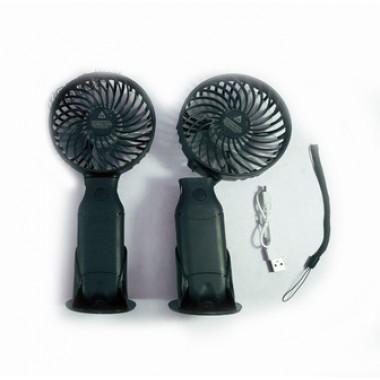 Вентилятор переносной с ручкой RECHARGEABLE N10 22*10d USB аккум. 18650 3 скорости цв. черный