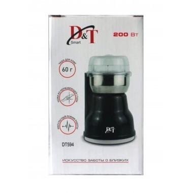 Кофемолка D&T Smart DT594  200watt 60г. цв. чёрная