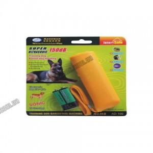 Отпугиватель от собак AD-100 до 15м. 9V Крона + фонарик 130 X 40 X 22 мм; цв. жёлтый БЛИСТЕР