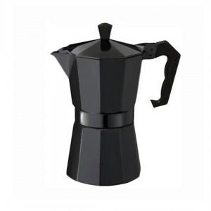 Гейзерная кофеварка DT-2709 9 чашек для газовых плит черная