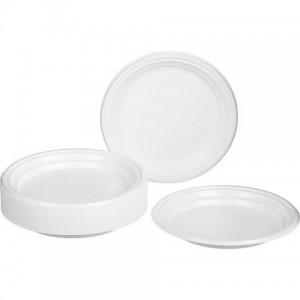 Тарелка пластик одноразовая большая d=205мм.(100)