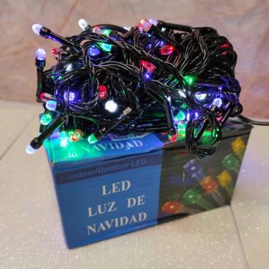Гирлянда черный провод лампа Рубинка 7 м 100LED 8 режимов микс
