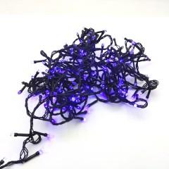 Гирлянда черный провод лампа Рубинка 9 м 200LED 8 режимов синий
