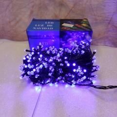 Гирлянда черный провод лампа Рубинка 16.5 м 400LED 8 режимов синий