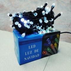 Гирлянда черный провод лампа Рубинка большая 7 м 100LED 8 режимов белый