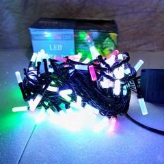 Гирлянда черный провод матовая гексагональная лампа 7 м 200LED 8 режимов микс