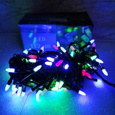 Гирлянда черный провод матовая лампа 7 м 100LED 8 режимов микс