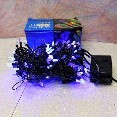 Гирлянда черный провод матовая лампа 9.5 м 200LED 8 режимов синий