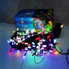 Гирлянда черный провод матовая лампа 18 м 300LED 8 режимов микс