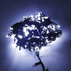 Гирлянда черный провод матовая лампа 19 м 500LED 8 режимов белый