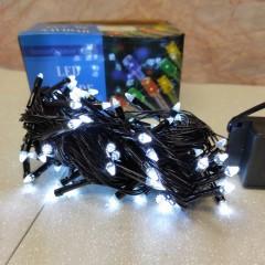 Гирлянда черный провод прозрачная коническая лампа 7 м 100LED 8 режимов белый