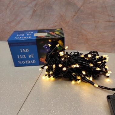 Гирлянда черный провод прозрачная коническая лампа 7 м 100LED 8 режимов теплый белый