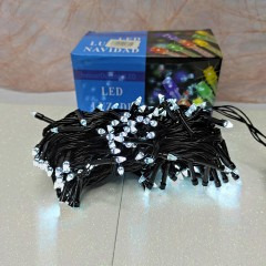 Гирлянда черный провод прозрачная коническая лампа 11 м 200LED 8 режимов белый