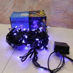 Гирлянда черный провод прозрачная коническая лампа 9.5 м 200LED 8 режимов синий
