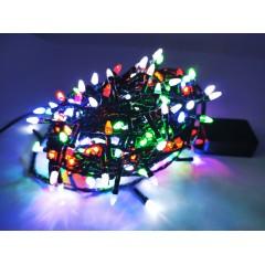 Гирлянда черный провод прозрачная коническая лампа 13 м 300LED 8 режимов микс