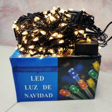 Гирлянда черный провод прозрачная коническая лампа 18 м 300LED 8 режимов теплый белый