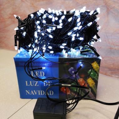 Гирлянда черный провод прозрачная коническая лампа 19.5 м  500LED 8 режимов белый
