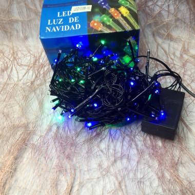 Гирлянда черный провод цилиндрическая маленькая лампа 5.5 м 100LED 8 режимов мульти