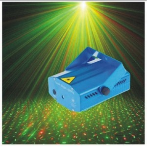 Праздничный Лазерный мини-проектор стробоскоп  Mini Laser Stage Lighting JY-09