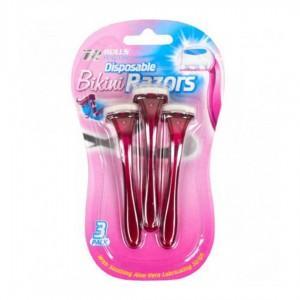 Набор бритв женских для бикини 3 шт, одно лезвие, блистер 16х9,5 см