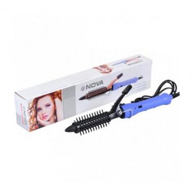 Плойка для волос с расческой Nova AIO-16В 89013 фиолетовый