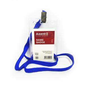 """Бейдж на шнурку вертикальний """"Axent-4506"""""""