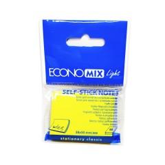 """Блок для нотаток з клейким шаром 38*50мм.""""Economix Light-27930"""" 80арк.жовтий"""