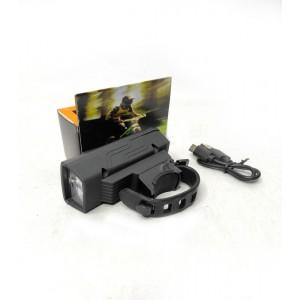 Фонарик велосипедный YC-1803-XPE (вст. аккум., ЗУ micro USB) 8х3,5х2,2см