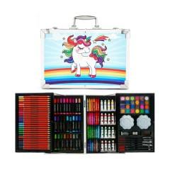 Набор для детского творчества Пони Радуга из 145 предметов в кейсе голубой