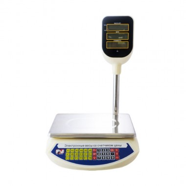 Весы торговые Promotec PM-5052 до 40кг. корпус пластик 2г деление, 48ч. без заряда, цв.бежевый