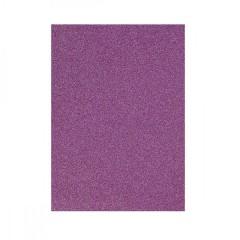 Бумага цветная А4 10л Фоамиран 1,5мм с блестками 15K-073 самоклейка фиолетовый