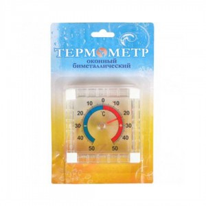 "Термометр оконный ""Квадрат"", 7,5*7,5 см X2-121"