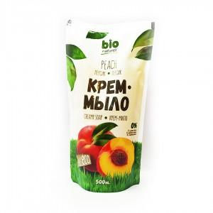 """Жидкое мыло Bio naturell """"Персик"""" дой-пак 500 мл."""