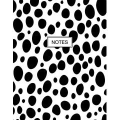 Блокнот А5 Астра на пружине Черные страницы 80 листов в линию твердая обложка