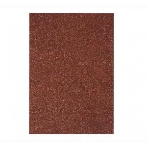 Фоаміран з глітером 20 * 30см, EVA, Флексика, 2 мм. 10 аркушів в ОРР:коричневий