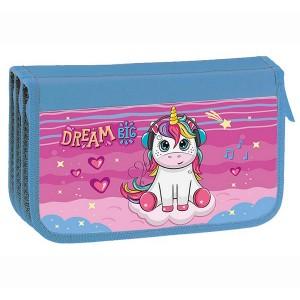 Пенал потрійний картон KIDIS, серія Unicorn Dreams