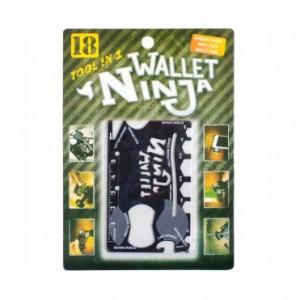 Мульти-кредитка ключ WALLET NINJA 18в1 8,5*5,3см X1-37