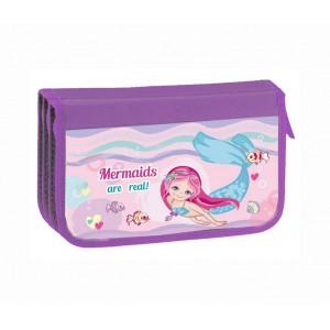 Пенал потрійний картон KIDIS, серія Mermaid