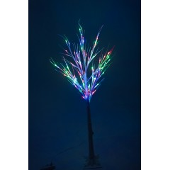 Новогоднее декоративное светодиодное дерево белое гирлянда 150 см 96 Led мульти