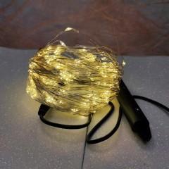 Светодиодная гирлянда нить конский хвост 3м 200 led от сети тёплый белый