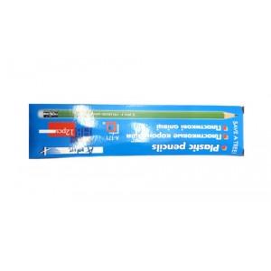 Олівці прості пластикові HB з ластиком 12шт/кор    72шт/уп