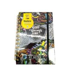 Блокнот, обкладинка фольга + конгрев В6, 80 г / м2, 96 аркушів, кремовий папір